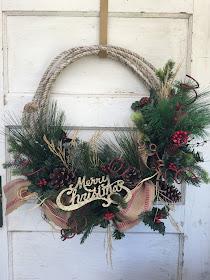 Cowboy Rope Christmas Wreath