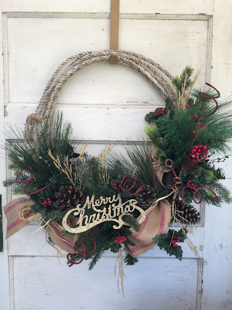 Cowboy Rope Christmas Wreath