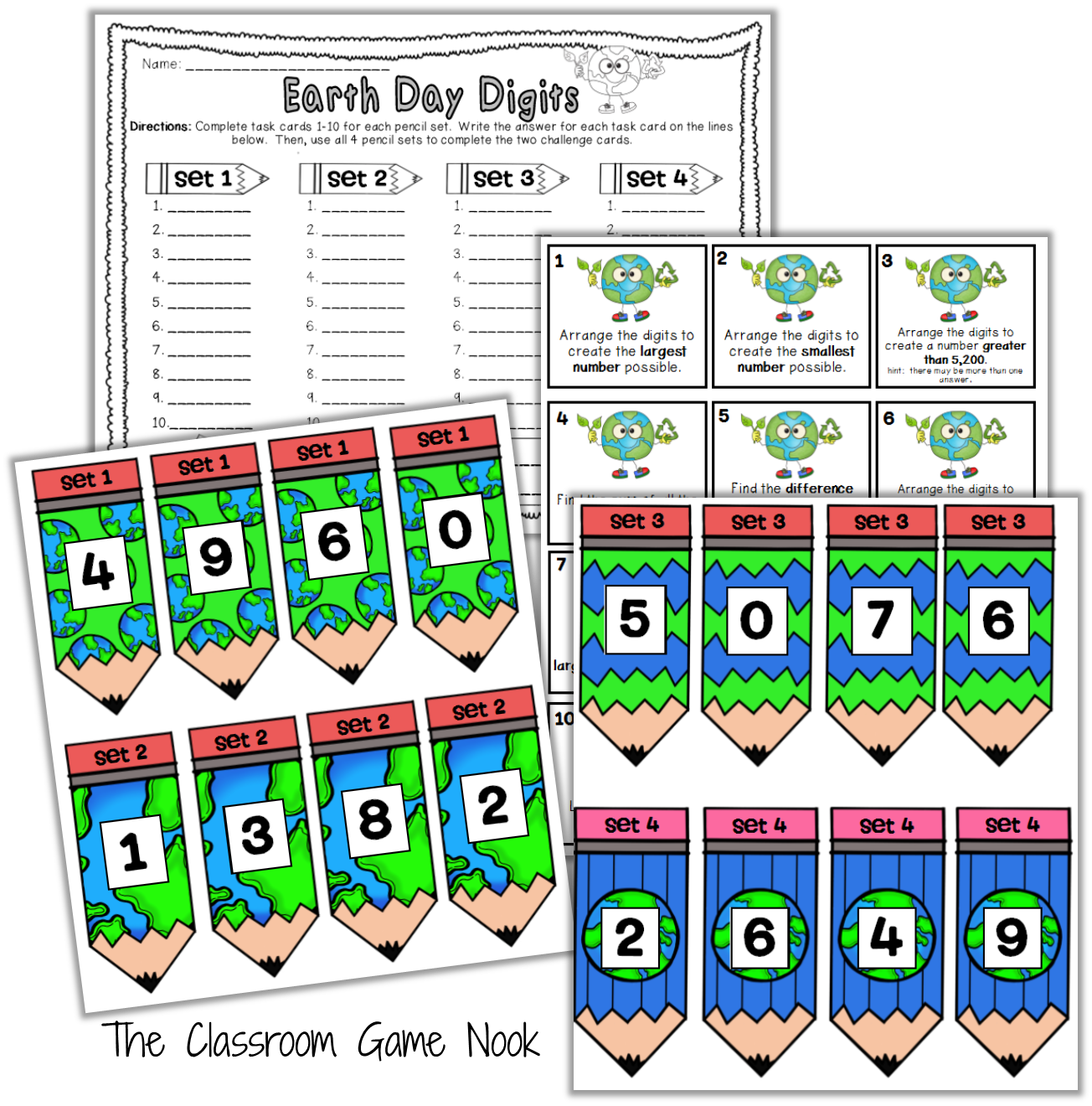 Classroom Freebies Earth Day Math Center