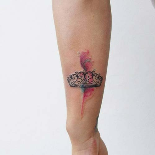 princess crown tattoo prenses taç dövmesi