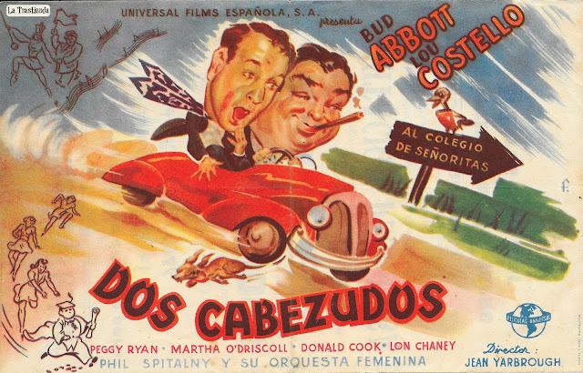 Dos Cabezudos - Programa de Cine - Bud Abbott - Lou Costello - Peggy Ryan