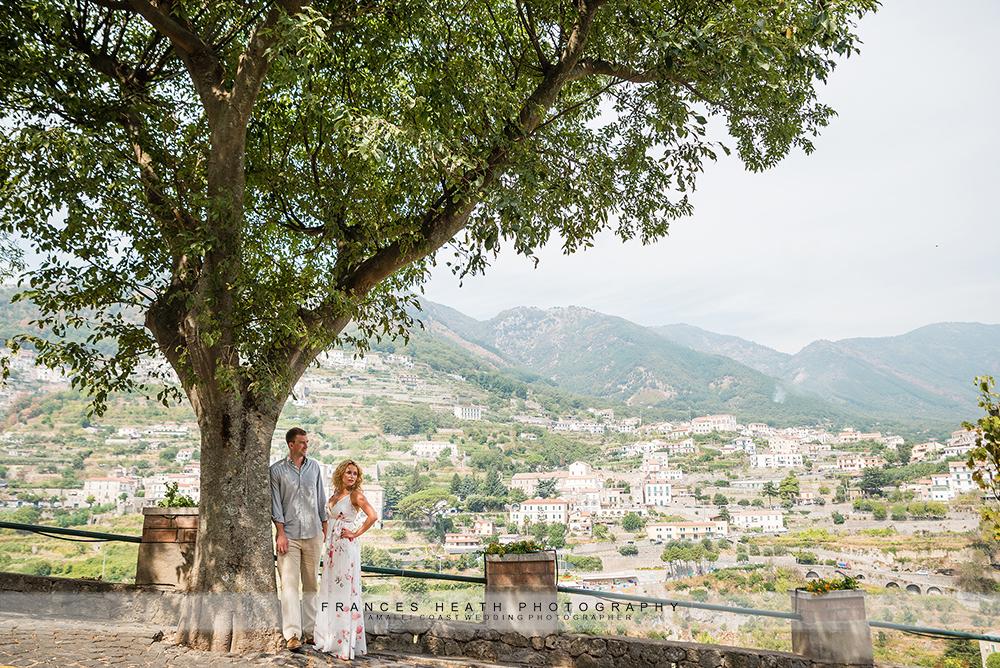 Mountain engagement in Ravello