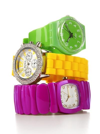 neon renkli saat tasarımları