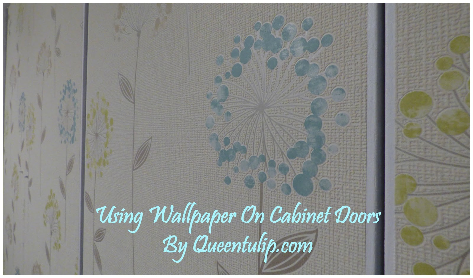 DIY Using Wallpaper On Cabinet Doors, My Latest Project On The Block. : )  Instead Of Playing With Paint Colours, I Thought Of Experimenting A  Wallpaper I ...