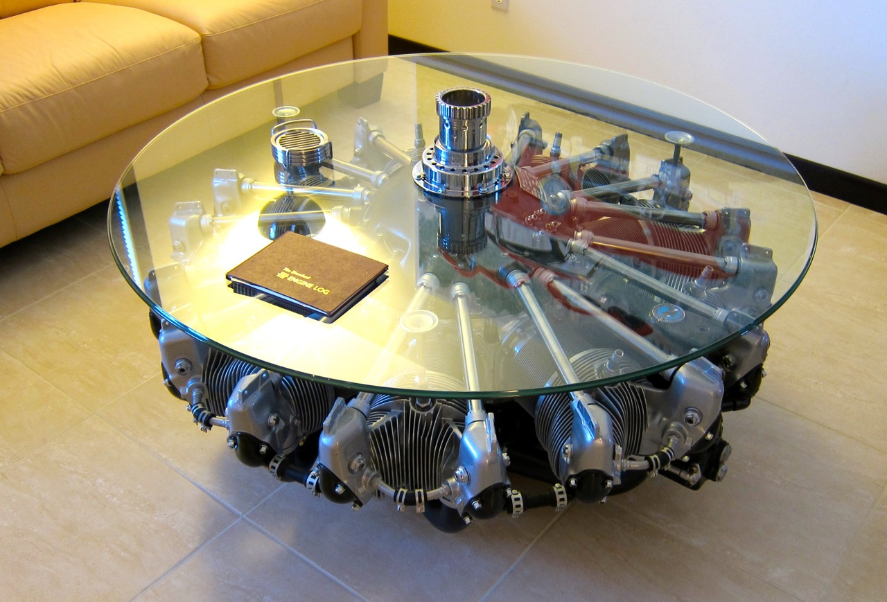 Car Guy Chronicles 450 Hp Wasp Radial Coffee Table