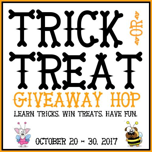 Ruby is excited to participate in the Trick or Treat Giveaway and Hop