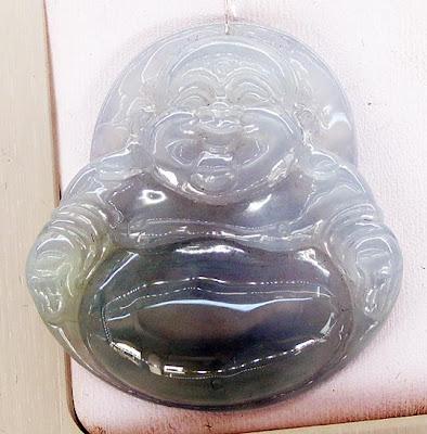 jade buddha pendant white lavender
