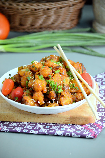 Gobi Manchurian ~ Indo Chinese Cauliflower Stir Fry