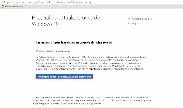 Actualizar a Windows 10 Aniversario