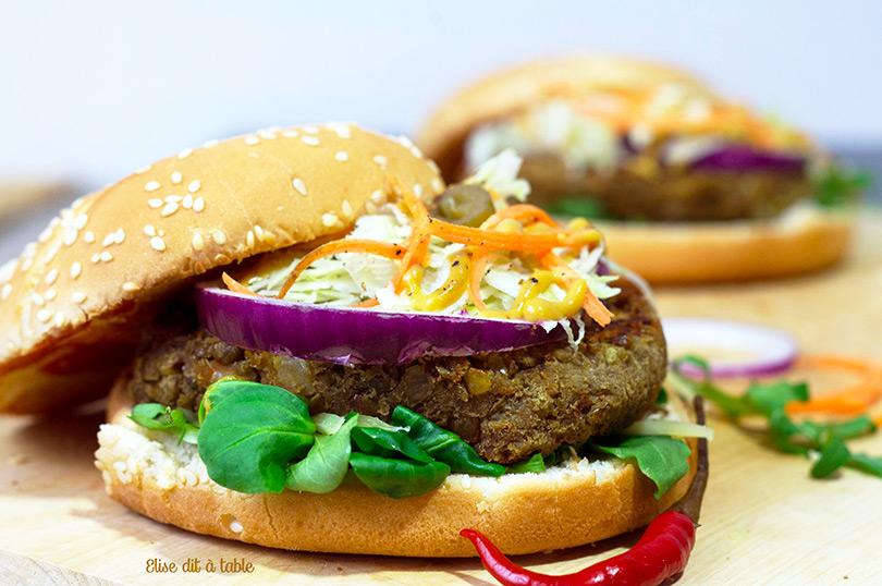 recette Burger végétarien au steak de lentilles