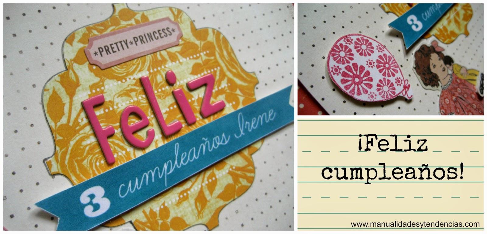 Tarjeta de cumpleaños para niña / Birthday card for a girl