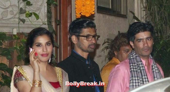 Sophie Choudry, Manish Malhotra, Photos from Amitabh Bachchan's Diwali Bash 2014