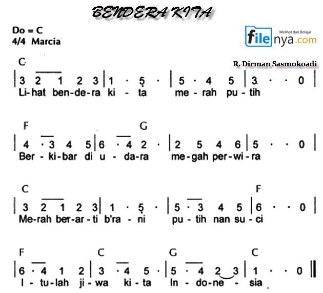 Lirik Chord Lagu Jikustik Puisi: Bendera Kita Not Angka,Not Balok,Lirik,Chord