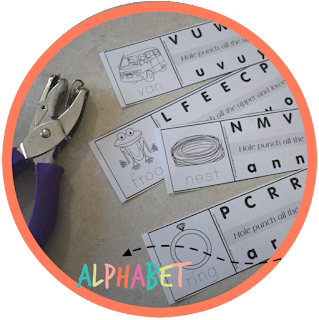 letter recognition alphabet hole punching