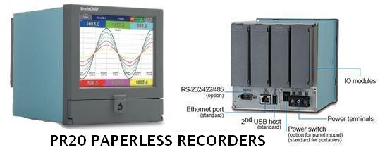 PR20 paperless recorder feature