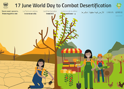 World Day to Combat Desertification and Drought 17 June - Theme and Notes