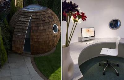 Diseño de Oficina muy especial en el jardín.