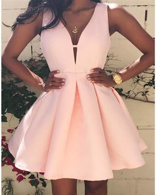 vestido rosa cóctel de verano