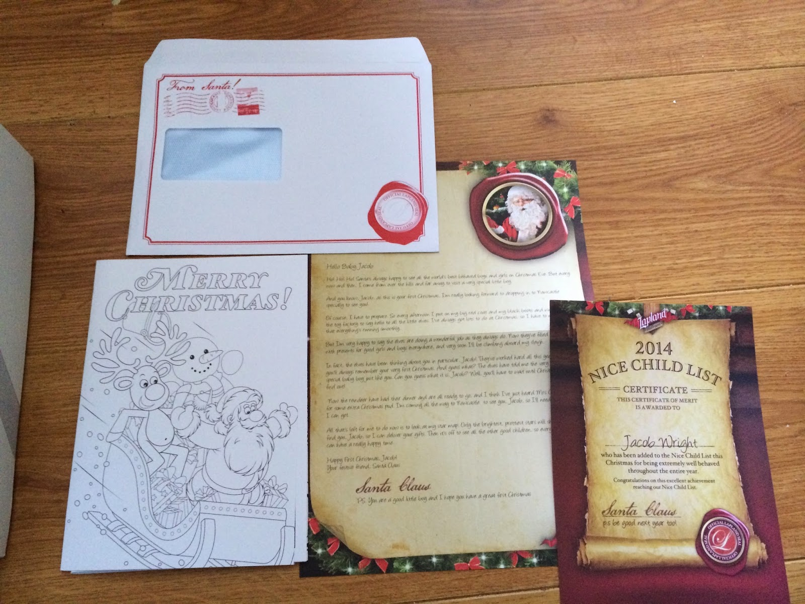 Lapland Mailroom Letter off Santa