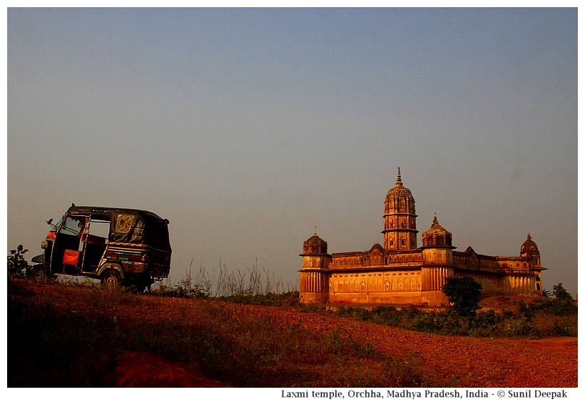Laxmi temple, Orchha, Madhya Pradesh, India - Images by Sunil Deepak