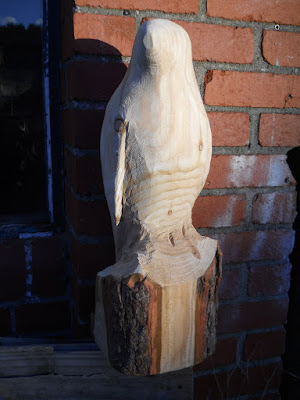 Bird sculpture roughed out