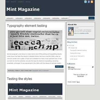Mint Magazine Blogger Template