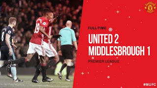 Manchester United vs Middlesbrough 2-1 Video Gol & Highlights