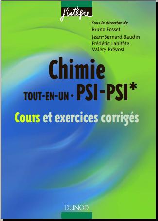 Livre : Chimie tout-en-un PSI-PSI* - cours et exercices corrigés