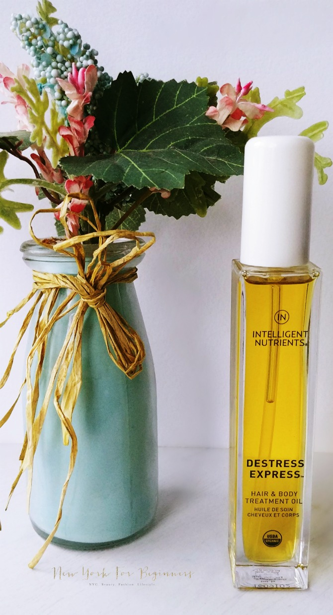 Indie Beauty Expo review at new york for beginners: Intelligent Nutrients destress body oil