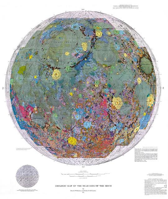 Mapa Geológico de La Luna.