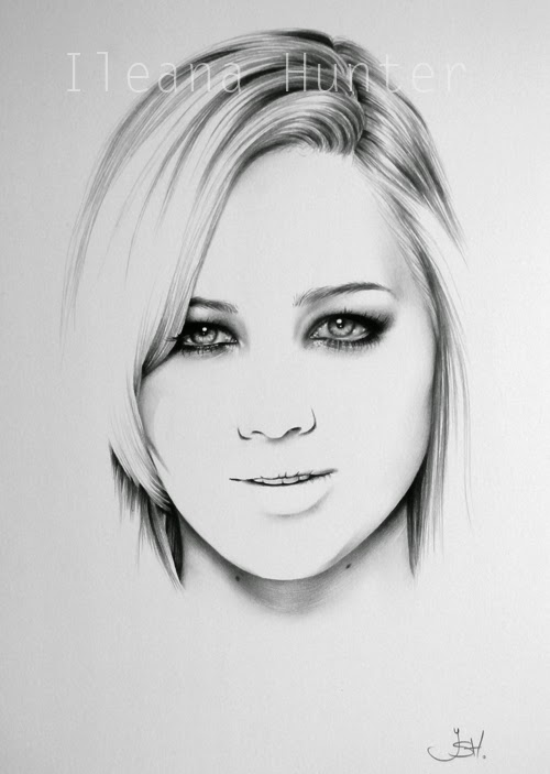 02-Jennifer-Lawrence-Ileana-Hunter-Recognise-Portrait-Drawings-Detail-www-designstack-co
