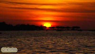 sunset ppulau samalona