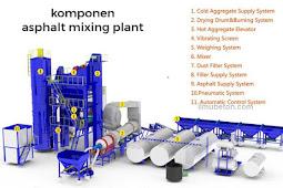 Asphalt Mixing Plant Dan Komponen Utamanya