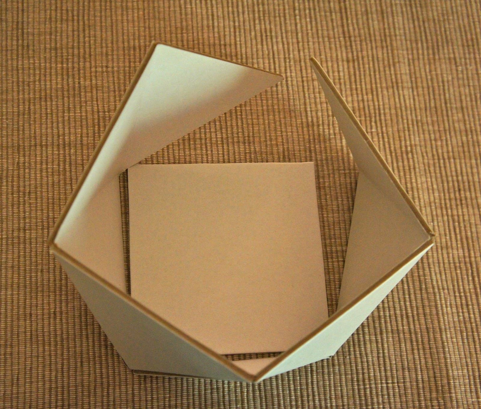 How to make 3d square out of paper