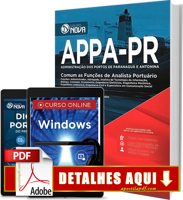 Apostila APPA PR 2016 Analista Portuário Impressa