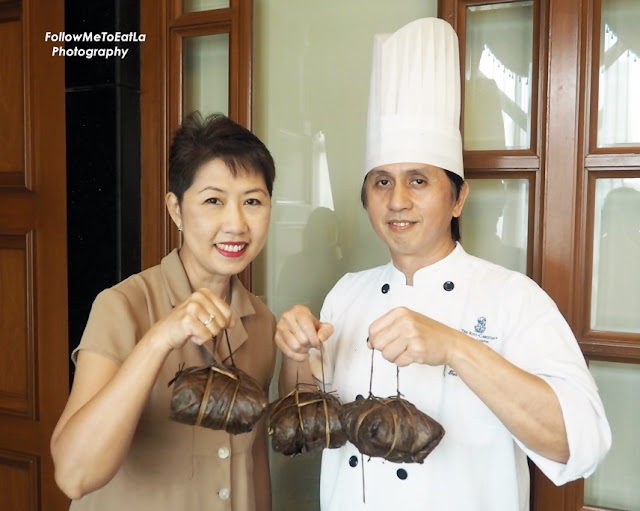 Pose With Dim Sum Chef Tan With The  Duck and Chestnut Dumpling