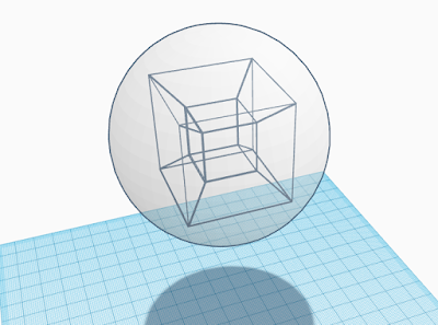 hypercube 3D visualization