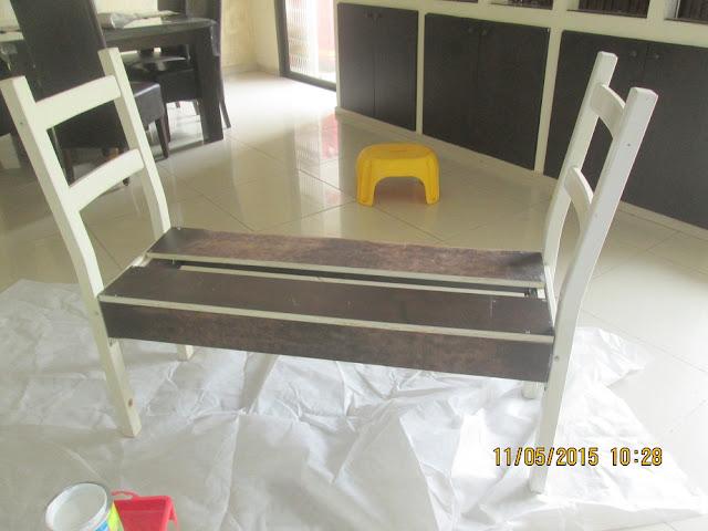 IMG 0380 - בניית ספסל משני כיסאות