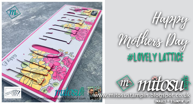 Happy Mother's Day using the Lovely Lattice Stamp Set free during Sale-A-Bration 2019, Shop with us online 24/7