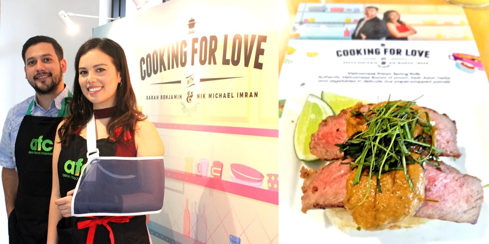 Cooking for love ala chef nik dan sarah bareng asian food channel seperti dihadirkan oleh asian food channel dengan demo masak di musim ketiga atau terbarunya dari cooking for love forumfinder Gallery
