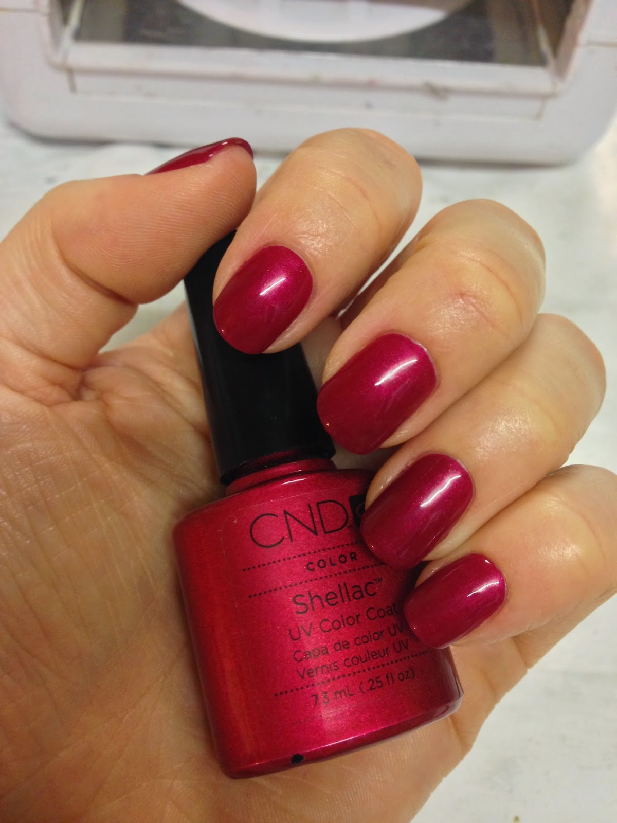 Cnd Creative Play Nail Lacquer Reviews In Nail Polish: Brush Up And Polish Up!: CND Shellac Red Baroness