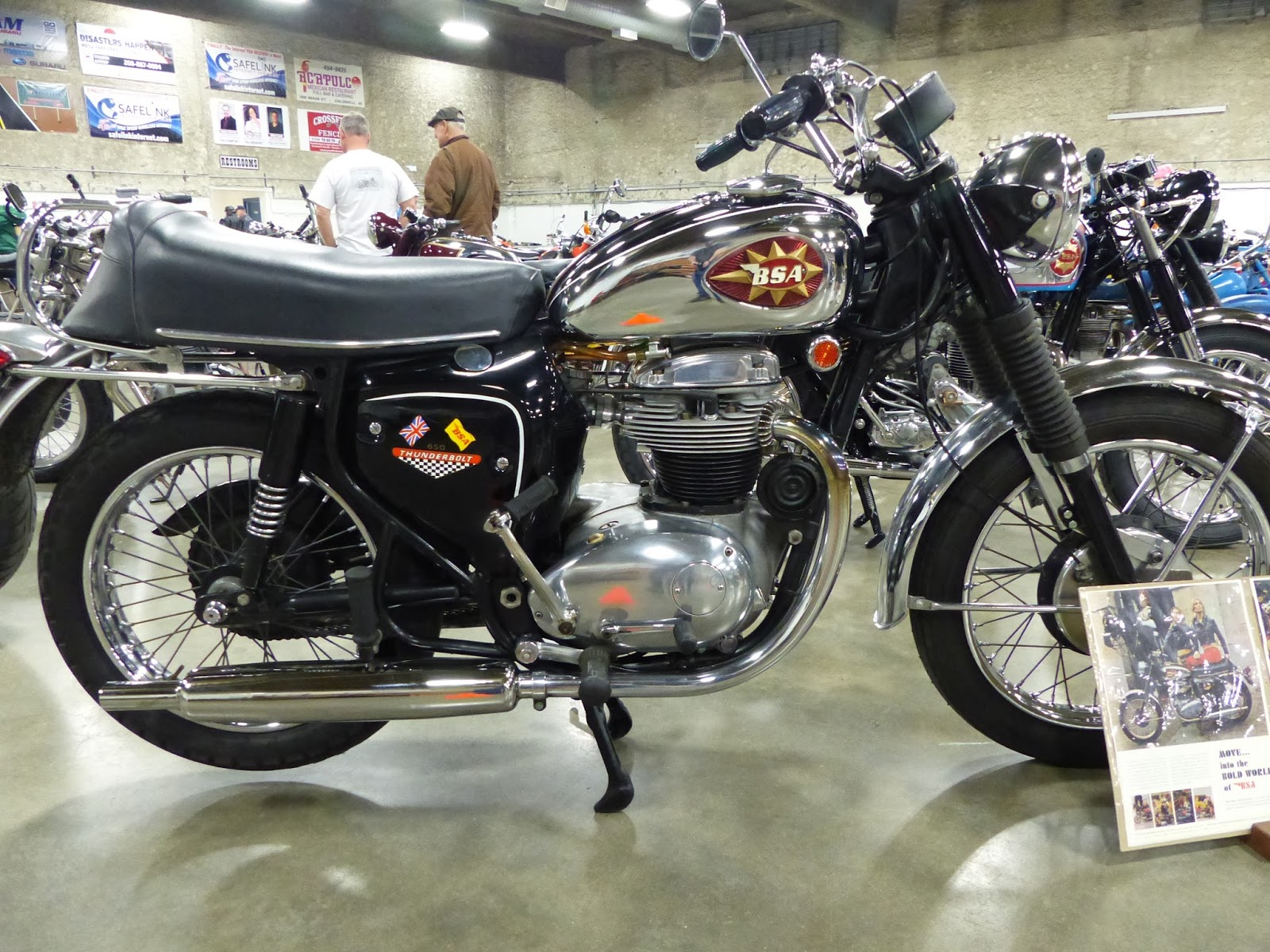 1968 BSA A65 650cc Thunderbolt On Display At The 2016 Idaho Vintage Motorcycle Show Caldwell Id