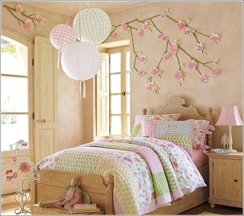 d coration chambres th me de fleur pour les petites filles d cor de maison d coration chambre. Black Bedroom Furniture Sets. Home Design Ideas