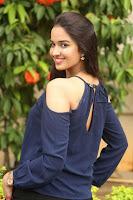 Poojita Super Cute Smile in Blue Top black Trousers at Darsakudu press meet ~ Celebrities Galleries 095.JPG