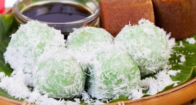 Resep Klepon,Resep kue Klepon, Kue mungil yang berwarna hijau dengan sensasi ledakan gula merah