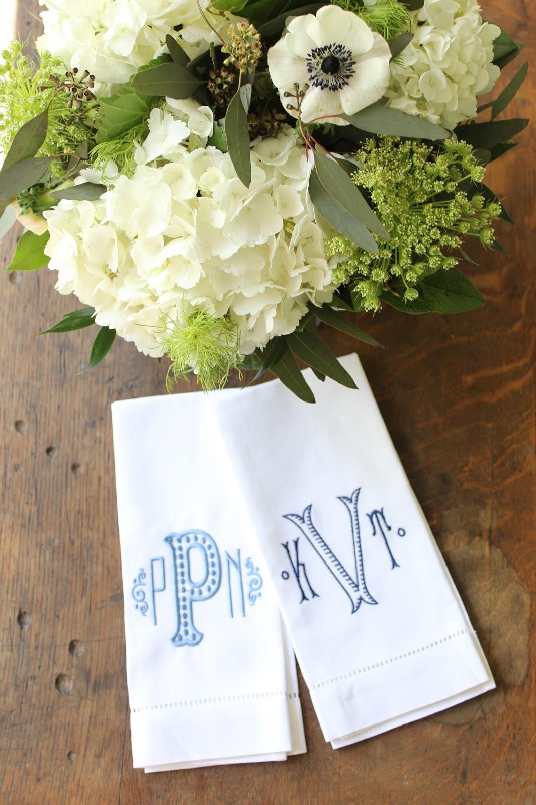 Monogrammed Tea Towels