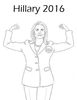 Hillary Clinton para colorear | Dibujo para colorear de Hillary Clinton