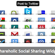 Add Shareaholic Social Sharing Widget With Tooltips And Counter Below Post For Blogger