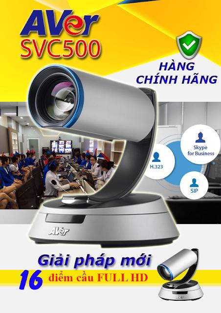 AVer SVC500 là thiết bị hội nghị truyền hình AVer tích hợp nâng cấp lên đến 16 điểm cầu