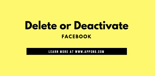 How to Deactivate Or Delete Facebook Permanently